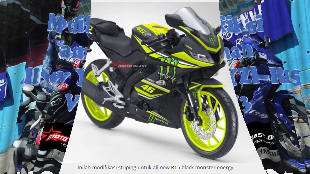 Modifikasi Striping All New Yamaha R15 V3 0 By Motoblast Youtube