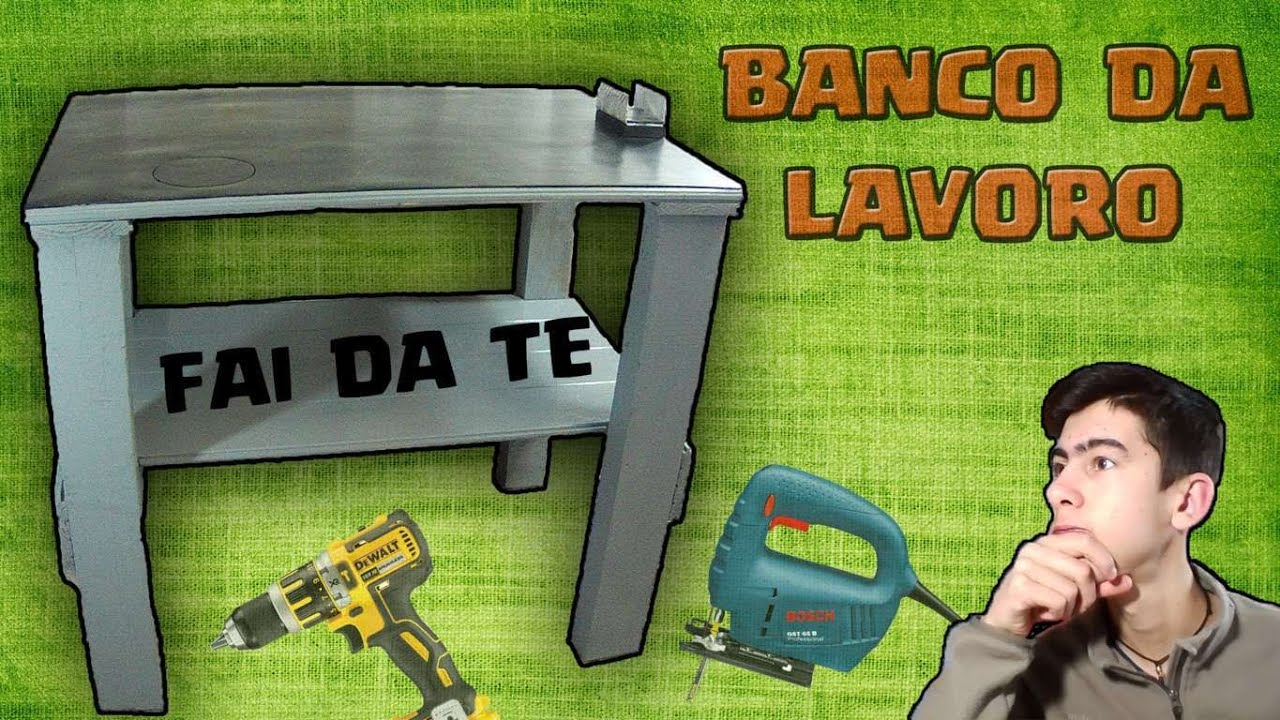 Banco da lavoro fai da te youtube for Panchine fai da te