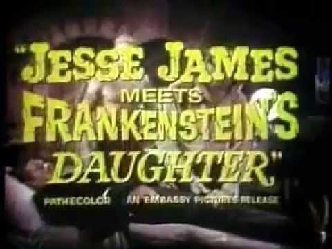Jesse James Meets Frankenstein's Daughter &  Billy The Kid Vs Dracula movie trailer double feature