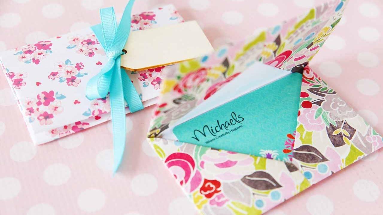 origami gift card holder youtube