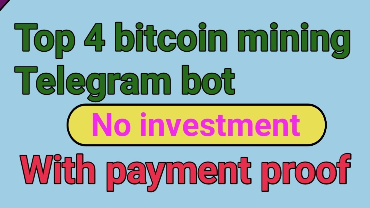 High four bitcoin mining Telegram bot | Earn bitcoin with