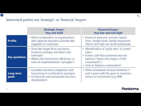 The Mergers and Acquisitions process