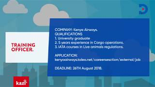 Available jobs in Kenya: August 20th-24th 2018