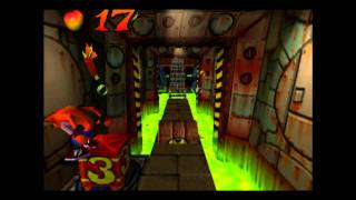 Crash Bandicoot - 100% Playthrough, Part 24 - Toxic waste + Blue gem and Tawna bonus round