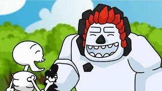 clash royale animation 30 three skeletons parody