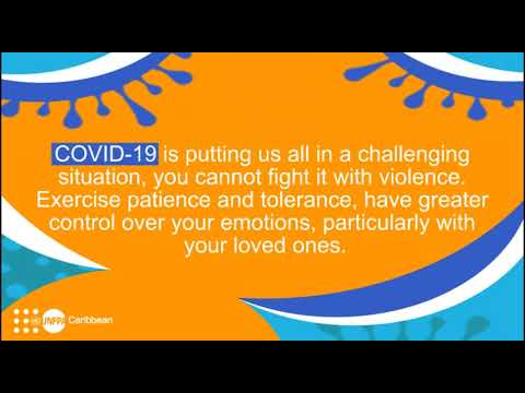 AUDIO message from UNFPA Caribbean during #COVID19 pandemic: Exercise patience and tolerance