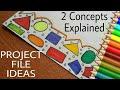 Project file design ! Project file ideas ! Project file pages decoration ideas ! Project file cover