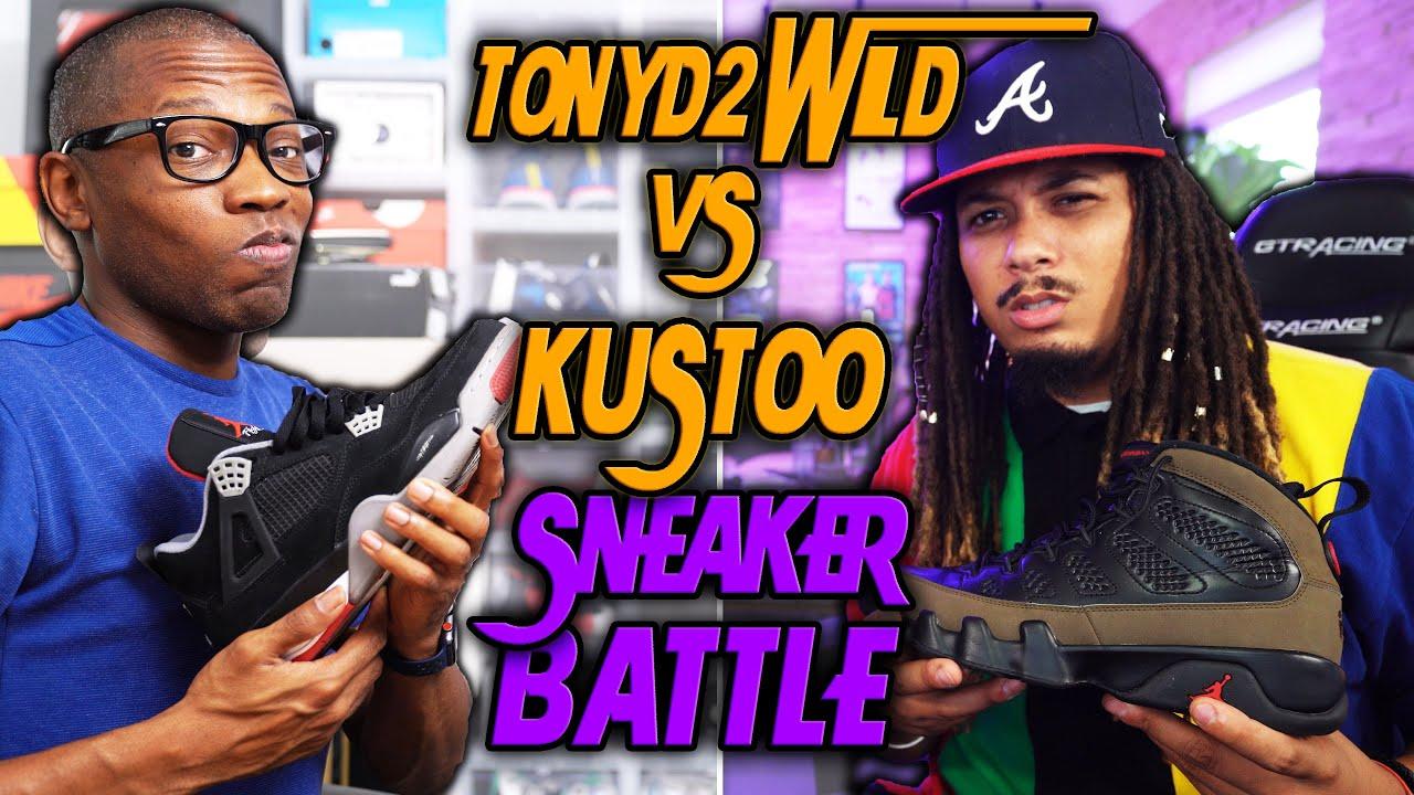 "TONYD2WILD VS ""KUSTOO"" JACQUES SLADE SNEAKER BATTLE !!! WHO'S NEXT ?!?"