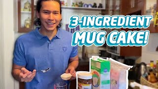 EASIEST 3-INGREDIENT MUG CAKE (PERFECT WHEN STUCK AT HOME!) | Enchong Dee