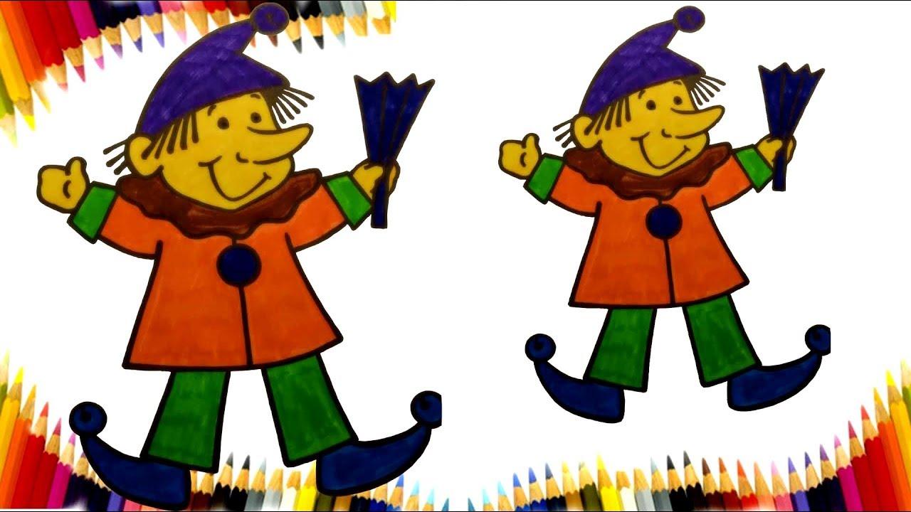 Palyaço Pinokyo Boyama Sayfası Pinokyo Boyama Palyaço Boayama