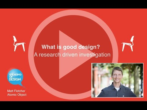 What is Good Design - Speaking of Design Feb 2015 Meetup