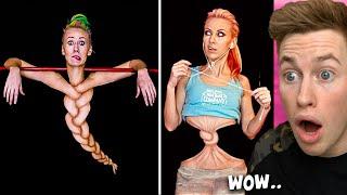 MAKEUP ARTIST Makes Amazing BODY PAINT ILLUSIONS..