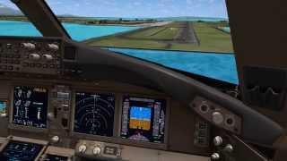 [FSX]Garuda Indonesia Boeing 777-300ER PK-GIC Landing Ngurah Rai, Denpasar, Bali