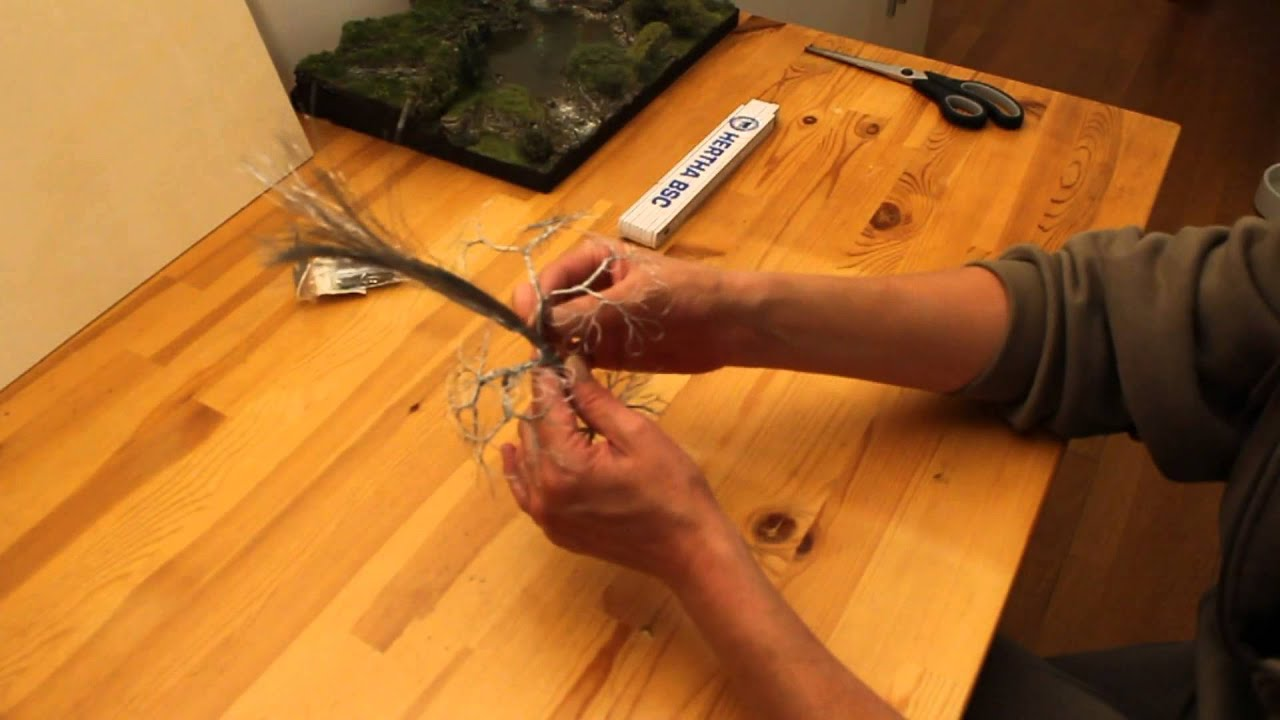 Modellbau Laubbaum Draht-Rohling - YouTube