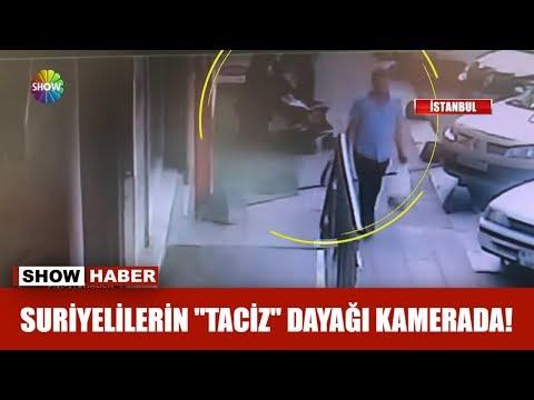 """Suriyelilerin """"Taciz"""" dayağı kamerada!"""