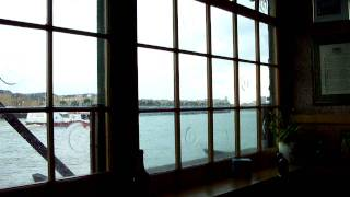 View from Lime house riverside pub London