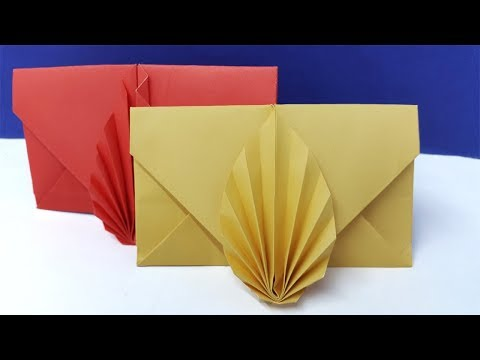 Envelope Making With Paper (Without Glue Tape and Scissors) | Super Easy Origami Envelope Tutorial