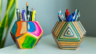 PENCIL HOLDER MADE OUT OF SKATEBOARDS!