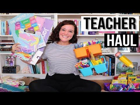 TEACHER EDITION | HUGE BACK TO SCHOOL HAUL