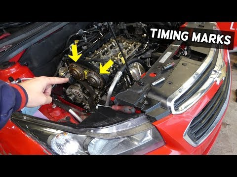 Timing Marks Chevrolet Cruze Sonic Timing Belt Replacement Marks