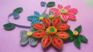 How to Make Quilling Beautiful Flower Card || Quilling Made Easy.