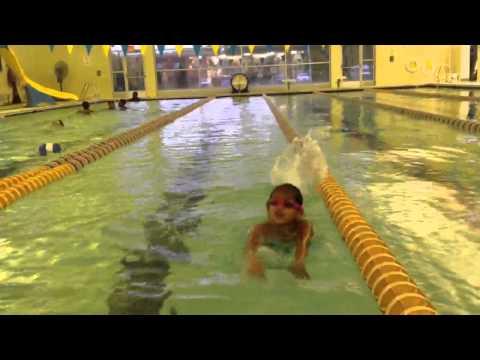 Sanjana swimming