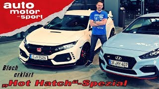 """Hot Hatch""-Spezial: Hyundai i30 N vs. Honda Civic Type R - Bloch erklärt #34  auto motor & sport"