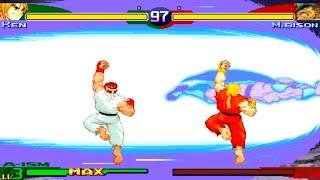 [TAS] Ryu / Ken {Dramatic Battle Mode} (SFA3)