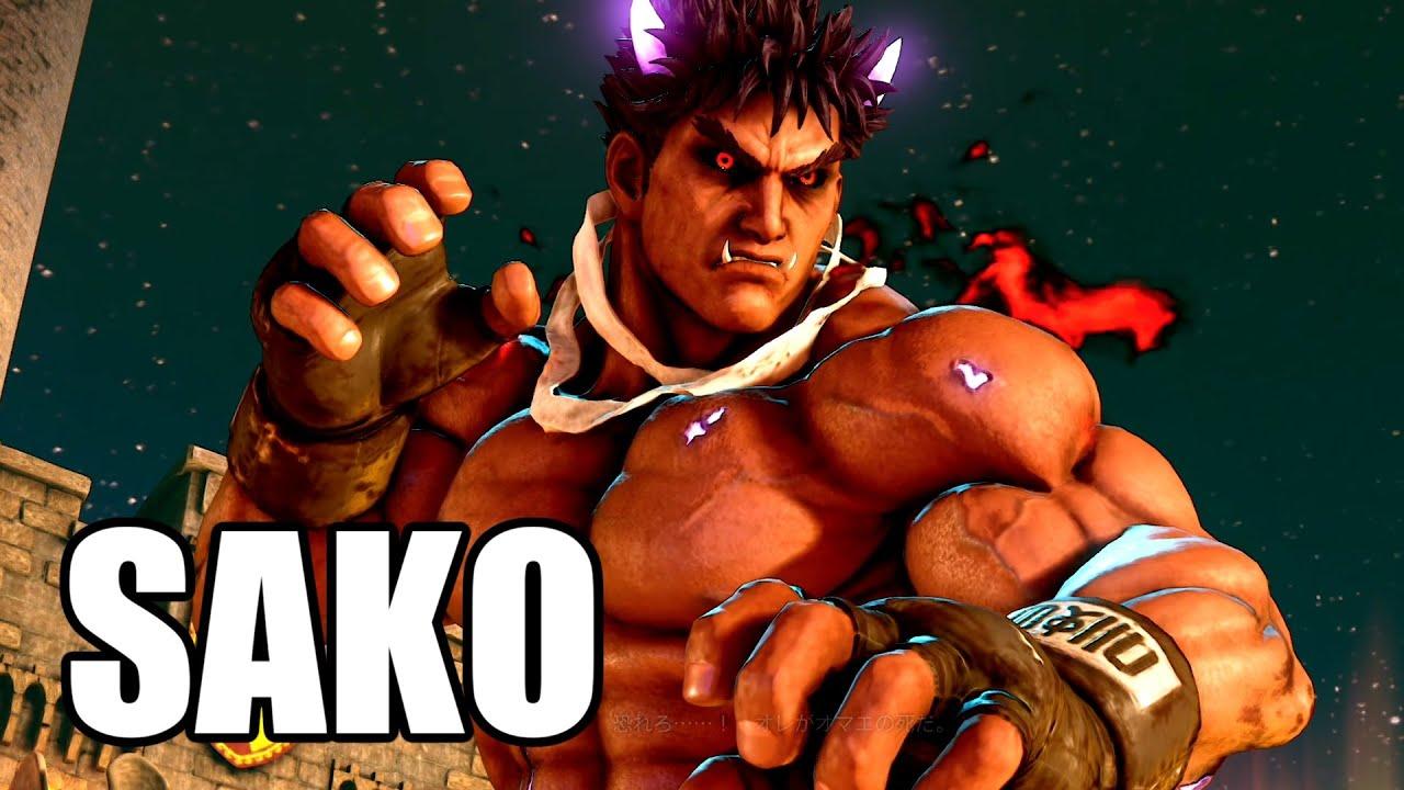 漆黒の胴着を纏うSAKO影のユリアン戦 Sako(Kage) VS gekoPC(Urien) FT3