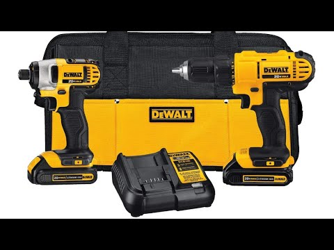 Dewalt 20v Max Cordless Drill Combo Kit 2 Tool Dck240c2 Youtube