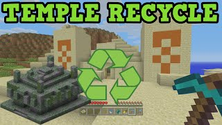 Minecraft - Desert Temple Recycle Challenge Build