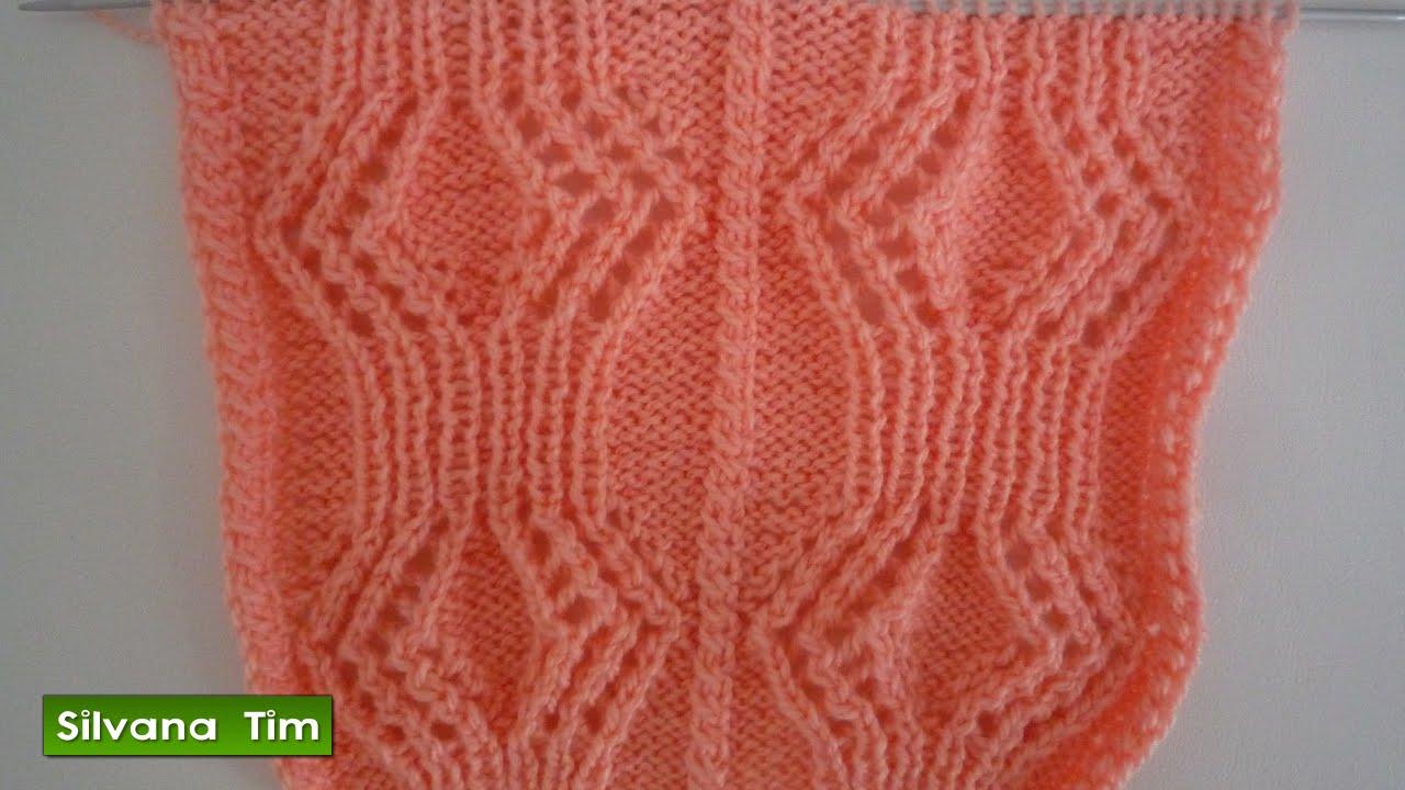 Tutorial de tejido con dos agujas punto puntada rombos - Hacer punto con dos agujas para principiantes ...