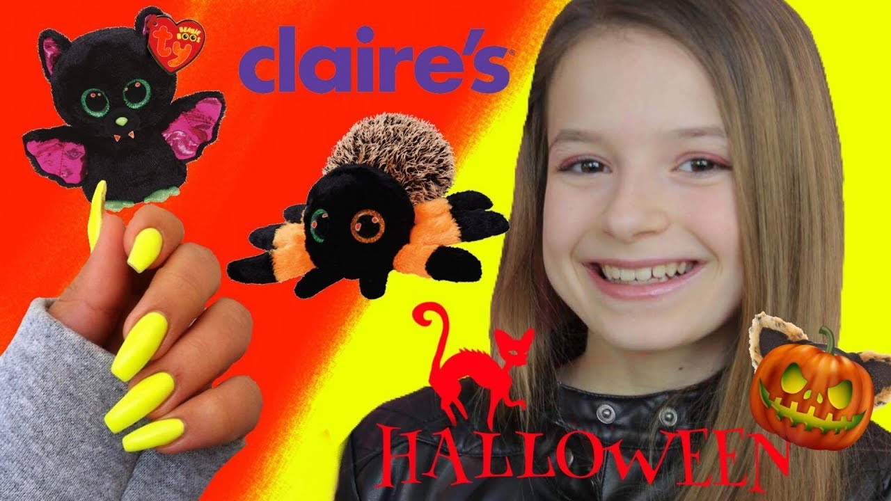 shopping chez claire 39 s pour halloween id e cr ative faux ongles originaux youtube. Black Bedroom Furniture Sets. Home Design Ideas