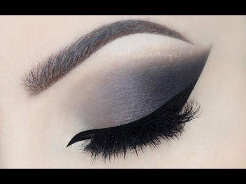 Grey Smokey Eye with Nude Lips