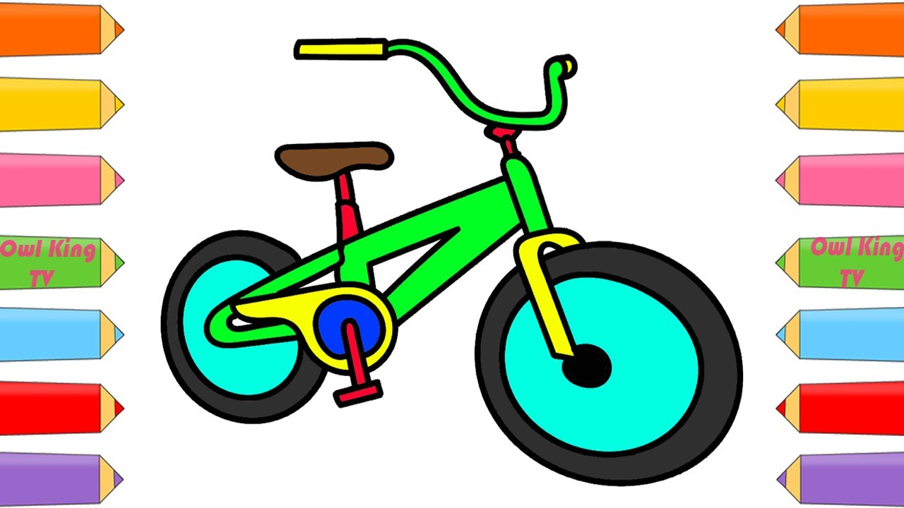 How to Draw Bicycle, Rainbow Finger Family Song | Coloring Pages ...