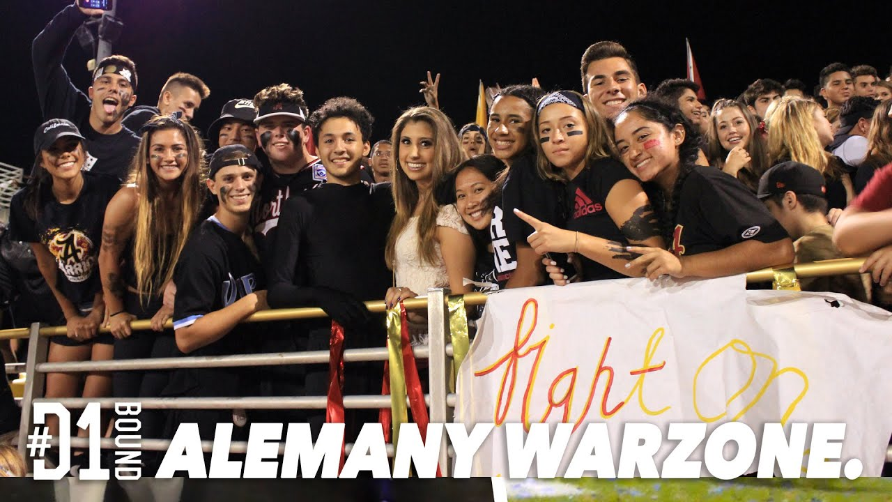 D1bound Friday Night Student Section Alemany Warriors