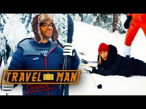 Richard Ayoade & Fay Ripley go Skiing  Travel Man: 48hrs in Oslo...