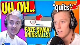 Daequan and Ninja ARE Shocked.. Tfue and Faze Sway Uninstalling and Quitting
