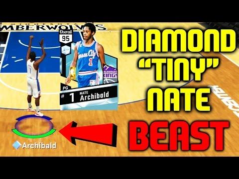 DIAMOND NATE TINY ARCHIBALD IS A BEAST! BEST STATS! NBA 2K17 MYTEAM ONLINE GAMEPLAY