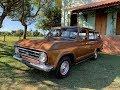 Chevrolet Veraneio Standard 1976 laranja bronze metálico (e De Luxo 77 e 78 de lambuja)