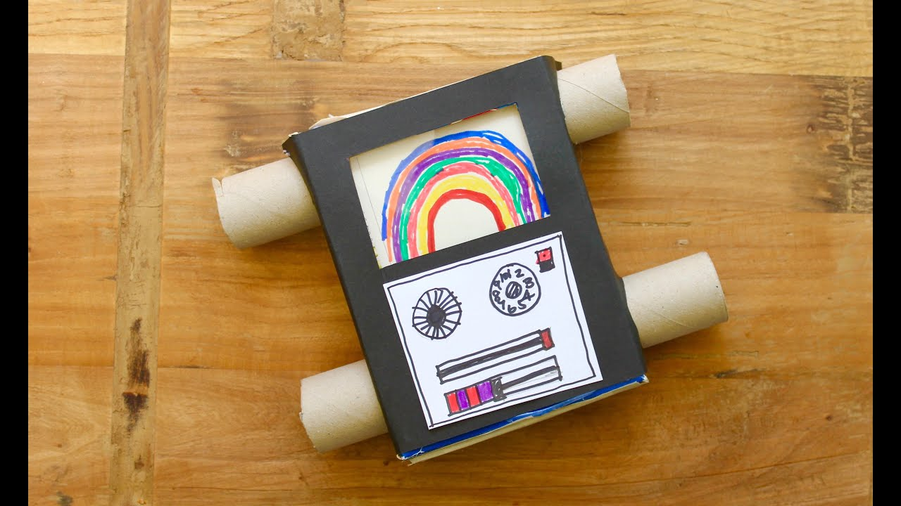 Easy Craft  How To Make A Pasta Box Television