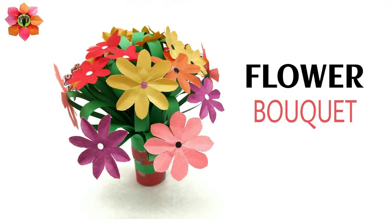 Hand Flower Bouquet for less than 50 cents - DIY Tutorial - 36 - YouTube