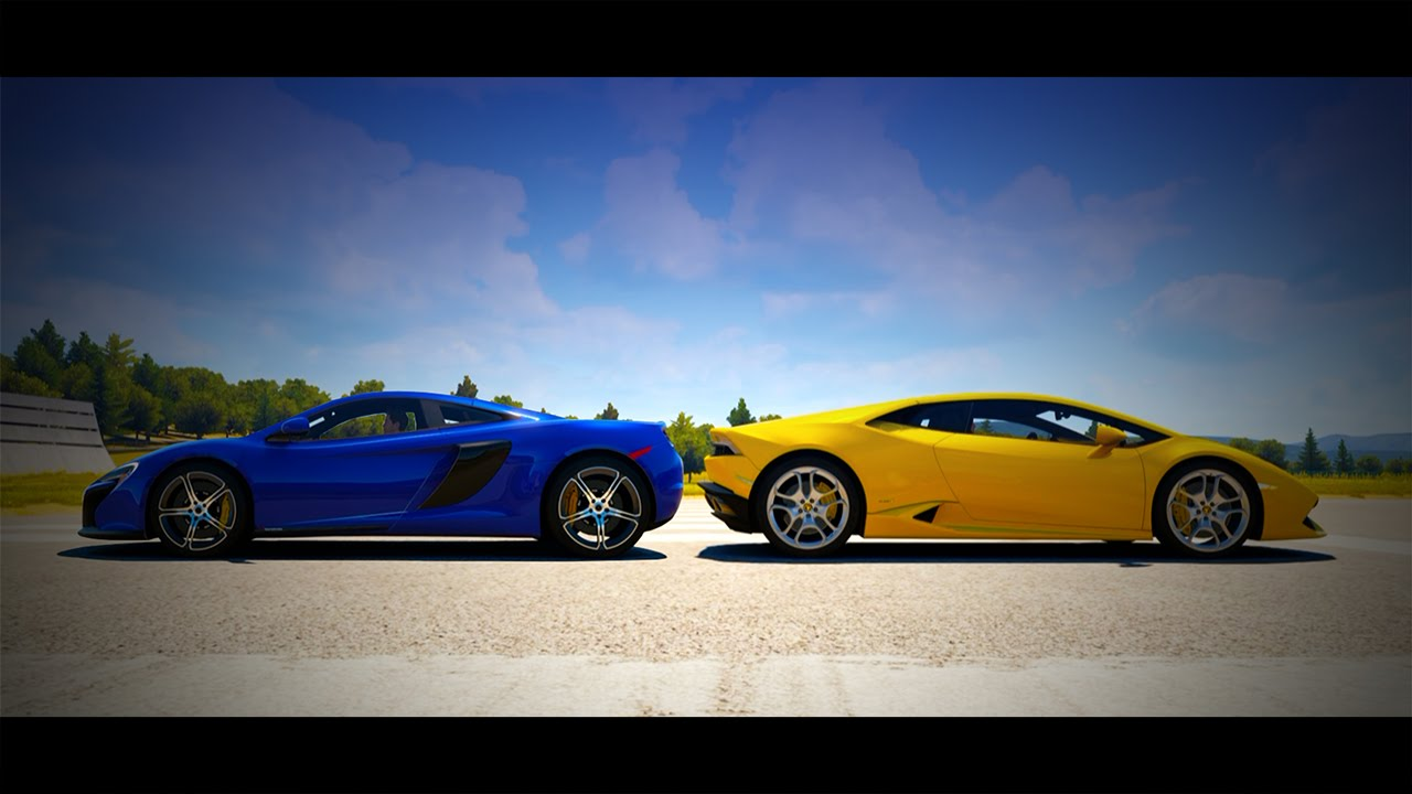 forza horizon 2 drag race mclaren 650s vs lamborghini hurac n youtube. Black Bedroom Furniture Sets. Home Design Ideas