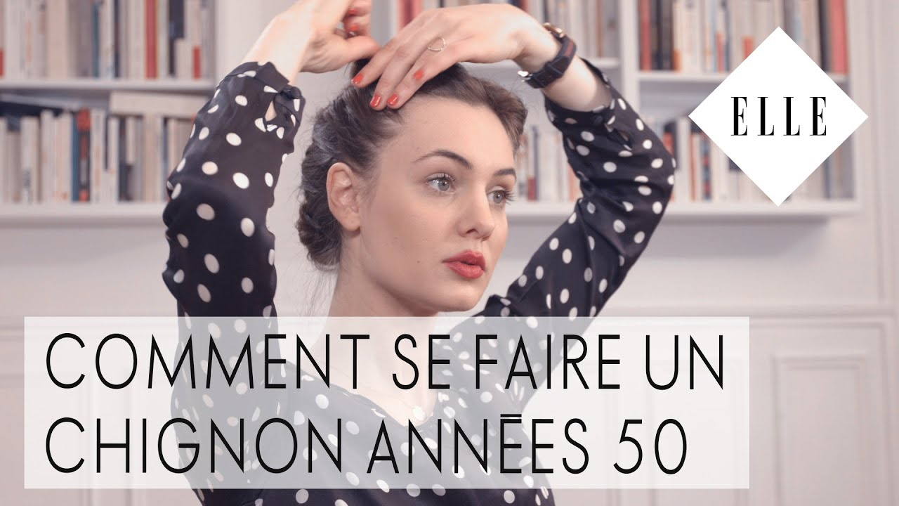 tuto comment se faire un chignon ann es 50 i elle. Black Bedroom Furniture Sets. Home Design Ideas