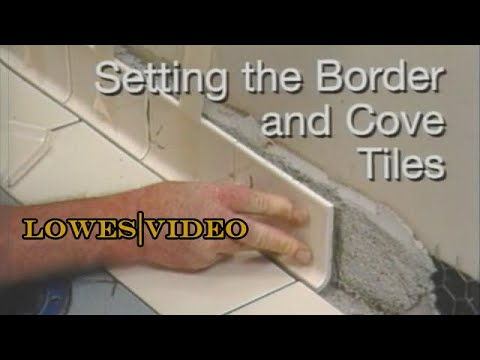 how to tile a floor setting the border and cove tiles