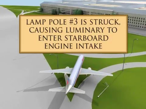 9/11: Animation with video and photos of Flight 77