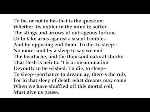 To Be or Not to Be -Hamlet's Soliloquy by William Shakespeare (read by Tom O'Bedlam)
