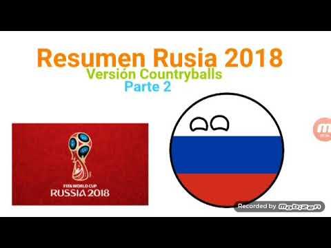 Resumen - Rusia 2018 - Parte 2 - Countryballs