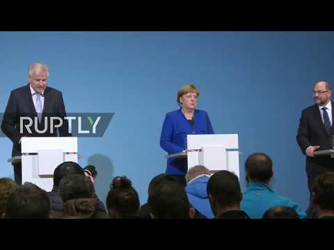 LIVE: Joint press briefing follows week-long German coalition talks