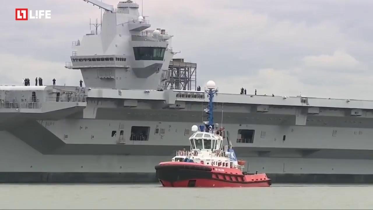 Крупнейший британский авианосец спустили на воду